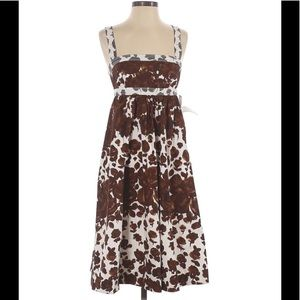 J. Crew Brown Paint Pattern Dress